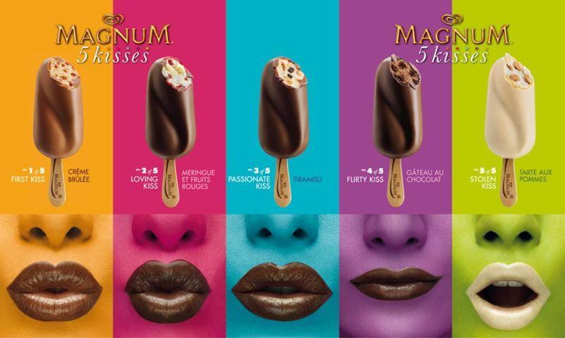 Publicite magnum 5 kisses